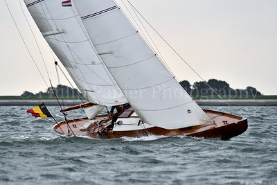 Classic Yacht sailing on the Oosterschelde