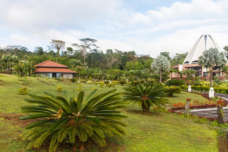 Bahai temple's garden