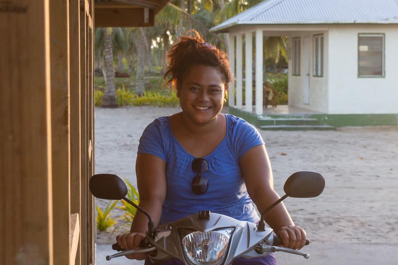Hostess of beach fales