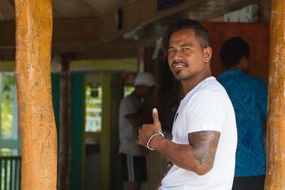 Waiter at Taufua Fales