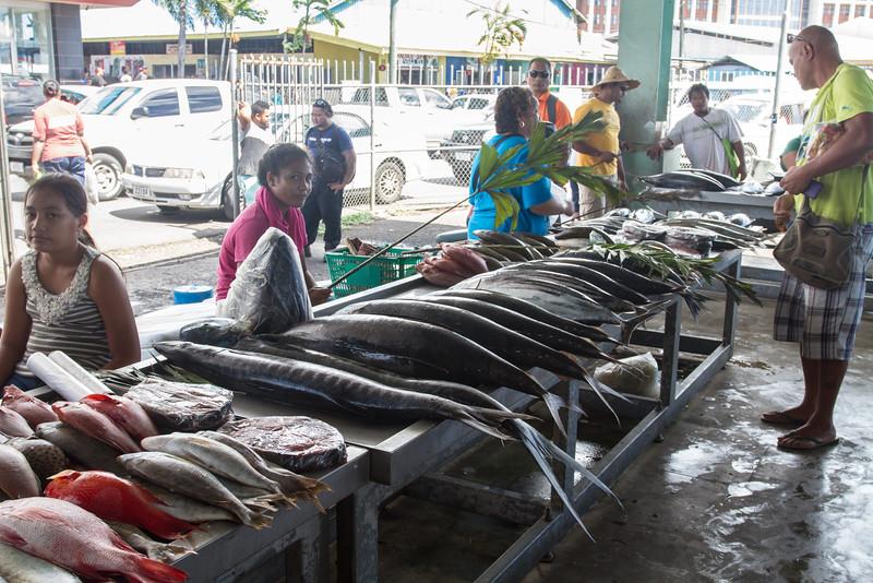 At fish market