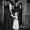 Bridesmaids entering Witherslack Church
