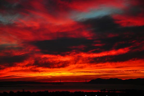 Dramatic Sunset over the Golden Gate Bridge