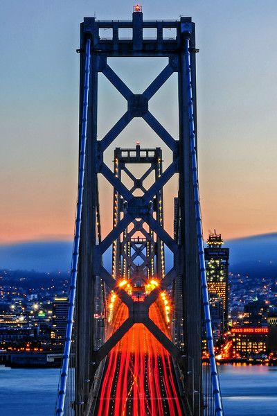 Towers of the Bay Bridge, Perfectly Aligned