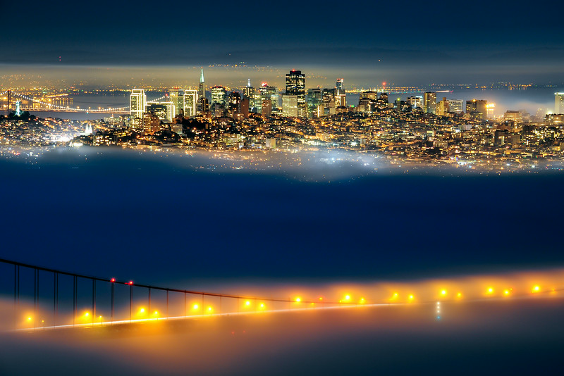 San Francisco in Fog