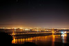 Golden City under a Starry Night