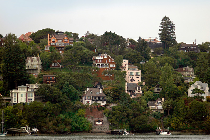 Sausalito Island homes nestled in the hill - beautiful!