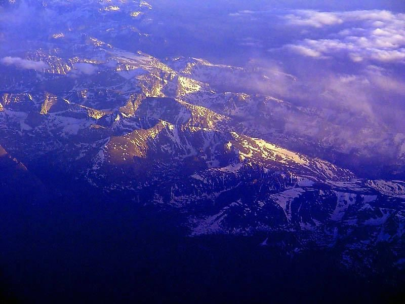 High Sierras From Above