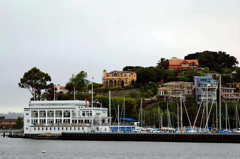 Houses on Sausalito Island in the San Francisco Bay.