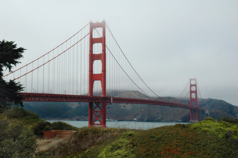 The Beautiful Golden Gate Bridge from the park.