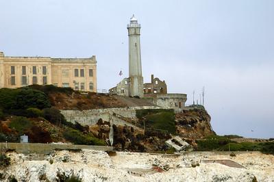 "The church ruins on Alcatraz - the ""rock"" in San Francisco Bay."