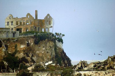 """Alcatraz, the """"Rock"""", a very surreal and eerie place."""