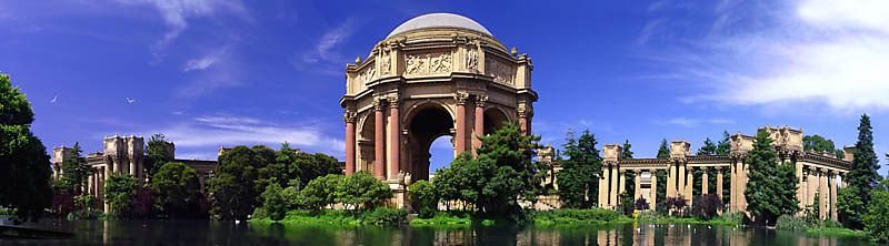 Panoramic of Palace of Fine Arts, San Francisco