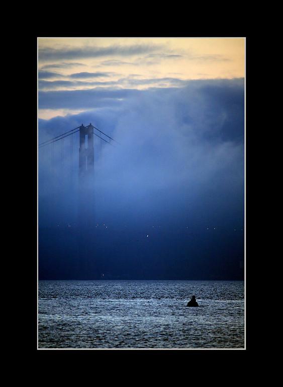 Fog Rolling In, Golden Gate Bridge, San Francisco, CA