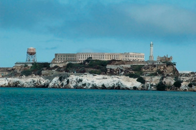 "Alcatraz on the ""rock"" in San Francisco Bay."