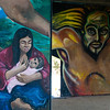 In 1974 professional murals began being painted by San Diego, Los Angeles and Sacramento chicano artists.