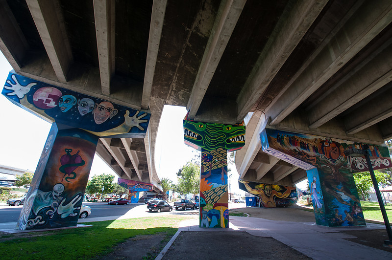 Just off Interstate 5 and under the Coronado bridge lies Chicano Park with its dozens of world-class murals.