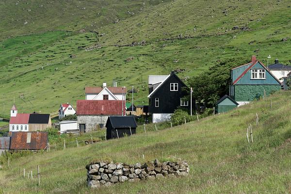 Kunoy village on Kunoy Island