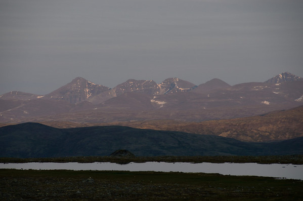 Rondane from Dovrefjell, Norway