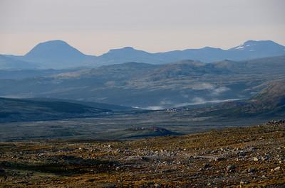 Rondane from Snöheim, Hjerkinn in foreground