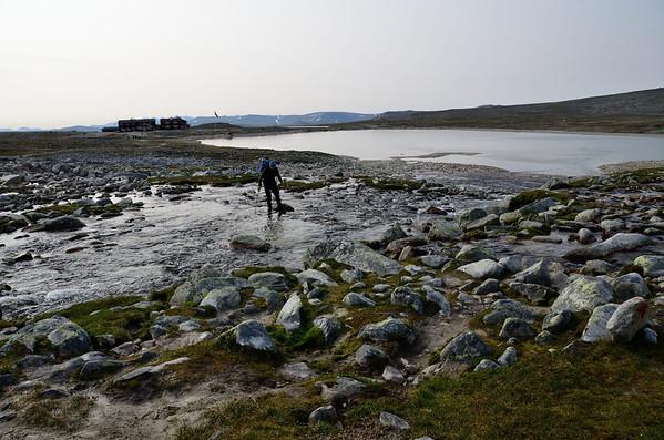 Tundra river crossing