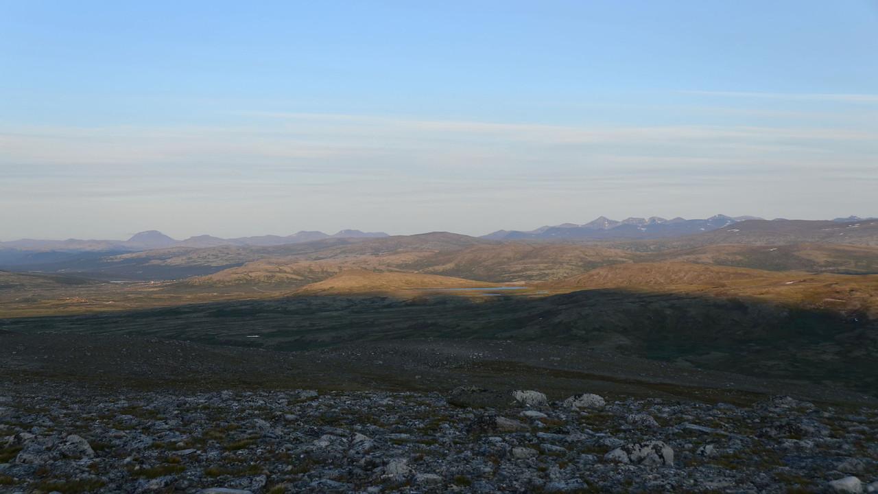 Sunset over Rondane