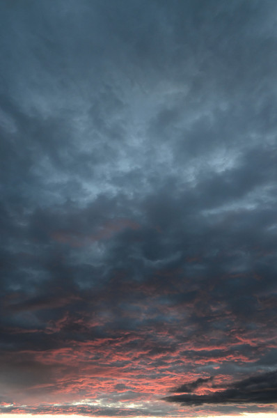 Sunset after rain at Brumunddal