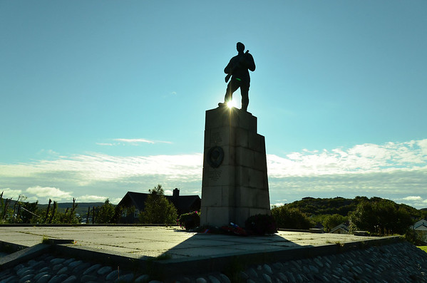 WW II monument - Kirkenes was one of the most bombed areas during WW II