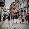 Rainy Day on Copenhagen's Strøget