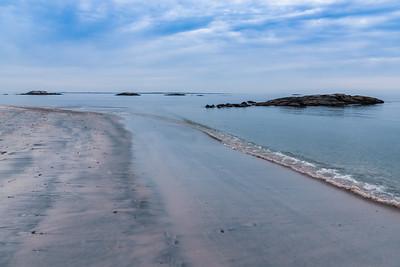 Beach Along the Rock Islands