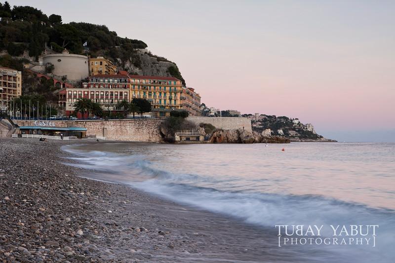 La Colline du Château and shingle beach in Nice