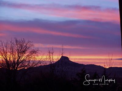 Sunset on Heart Mountain