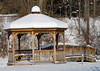 "<div class=""jaDesc""> <h4> Snow-covered Gazebo - December 31, 2012 </h4> <p> I took this shot while my dog Coby was romping nearby in the foot deep snow.  Location: Trout Ponds, Newark Valley, NY.</p> </div>"