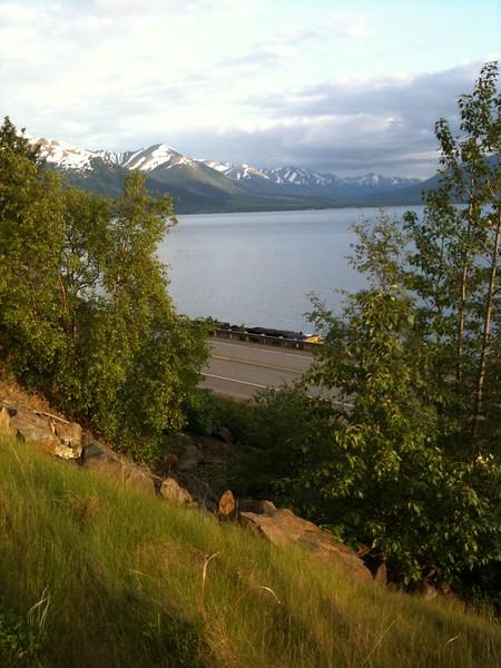 Alaska Railroad Train - Turnagain Arm, Alaska