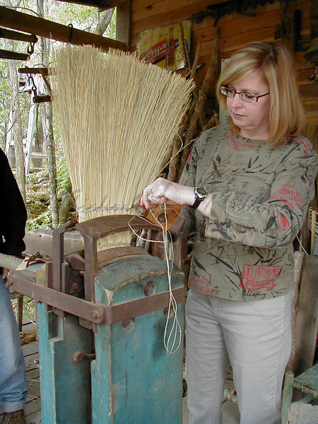 Broom making 2 at Spencers Mill, Tennessee
