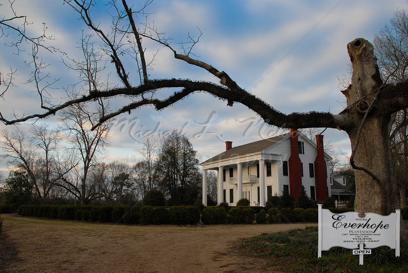 """Everhope Plantation"" - This is a private residence in Eutaw, Alabama. This 1852 Plantation home has been beautifully restored to it's former beauty."