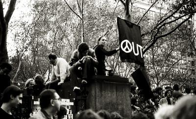 Antiwar Rally, Bryant Park