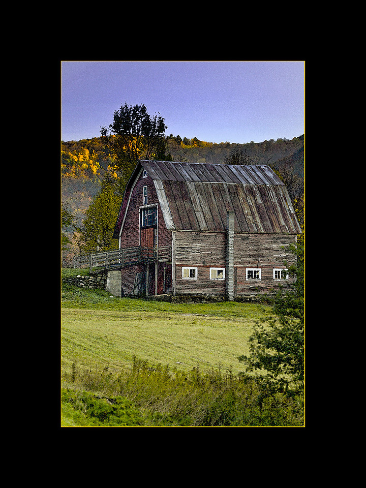 Old Barn (Watercolor effect), Vermont