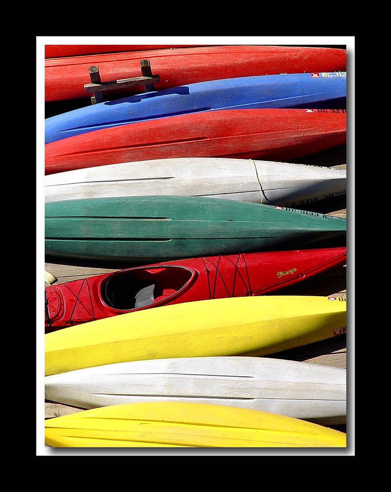 Kayaks, Georgetown (won Kodak Photo of the Day 11/2/04)