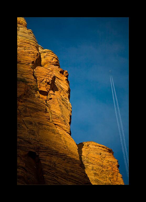 Man and Nature, Zion National Park, Utah