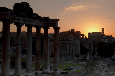 Sunrise at the Forum Rome, Italy