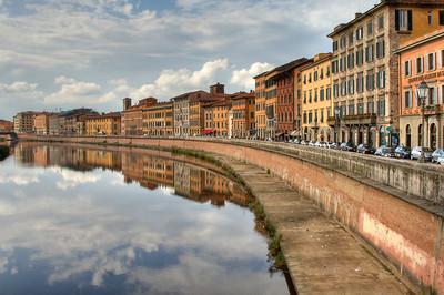 Arno River Bank Florence, Italy