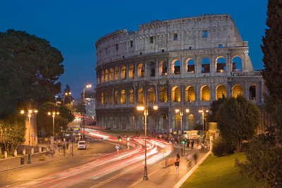 The Colosseum at Twilight Rome, Italy