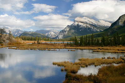 Mount Rundle From Vermillion Lakes, Banff National Park,  Alberta, Canada