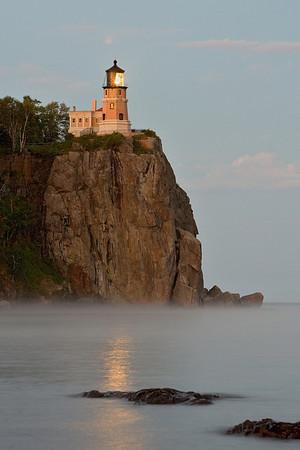 Splitrock Lighthouse with Beacon Lit