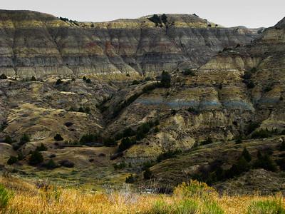 Badlands Panorama along the North Dakota State Highway