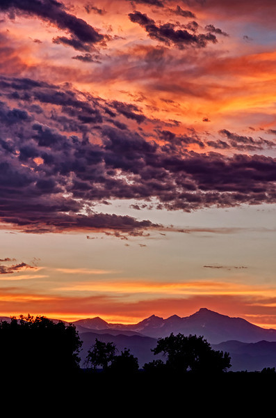 Long's Peak Colorful Sunset
