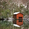 """Red Boathouse At Desoto"""