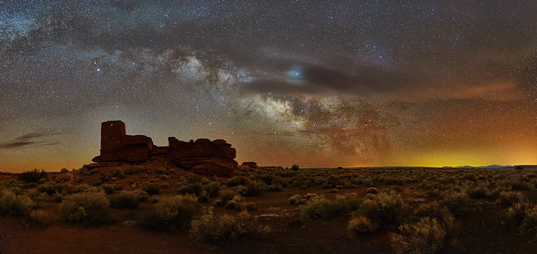 Wupatki Ruin & Milky-Way #2 - Wupatki National Monument, AZ