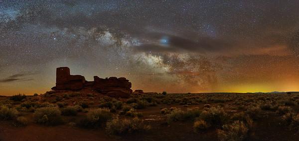 Wupatki Ruin & Milky-Way #2 - Wupatki National Monument, AZ
